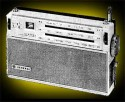 General Clive 9-transistor, 3 band, twin speakers portable £32/10/-