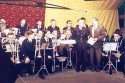 Live Tv 1957 - Peter Collins introduces brass band